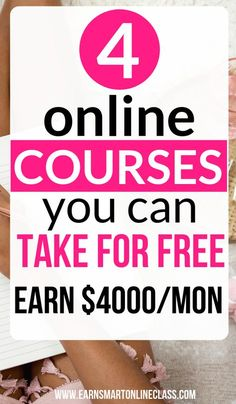 Free Online Courses Perfect For Beginners Looking for online classes to help you upgrade your skills? Get these awesome work from home courses to jumpstart your work from home career. You can master new skills in a matter of days. Get started today! Work From Home Careers, Online Jobs From Home, Work From Home Opportunities, Online Work, Online College, Business Opportunities, Earn Money From Home, Earn Money Online, Way To Make Money