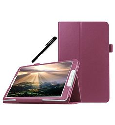 Galaxy Tab E 9.6 Case, OEAGO Samsung Galaxy Tab E 9.6 inch Case Cover Accessories - PU Leather Stand Folio Case Cover For Samsung Galaxy Tab E 9.6 Inch Tablet (2015 Released) - Purple - Galaxy Tab E 9.6 Case, OEAGO Samsung Galaxy Tab E 9.6 inch Case Cover Accessories – PU Leather Stand Folio Case Cover For Samsung Galaxy Tab E 9.6 Inch Tablet (2015 Released) – Purple. Built-in a horizontal stand for watching movies, reading, typing, displaying. Free cutouts for...