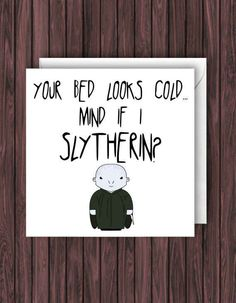 """A (dirty) """"Can I Slytherin?"""" card- A (dirty) """"Can I Slytherin?"""" card A (dirty) """"Can I Slytherin? Harry Potter Karten, Cadeau Harry Potter, Harry Potter Cards, Harry Potter Gifts, Harry Potter Valentines Cards, Harry Potter Birthday Cards, Valentines Puns, Diy Gifts For Friends, Birthday Gifts For Best Friend"""