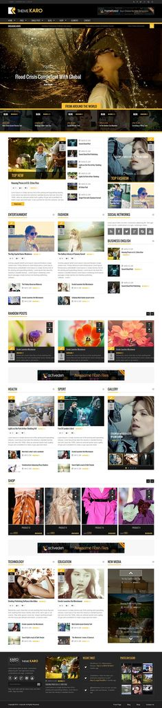 Karo - Magazine WordPress Theme by Themes Awards, via Behance