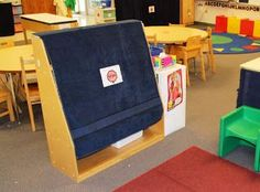Visually Closing Centers in a Special Education Preschool Classroom Great idea for any early childhood classroom!
