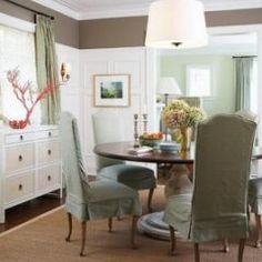 My dining room. Love the chest and the wc