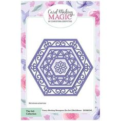 Card Making Magic Die Set Fancy Nesting Hexagons | 6x6 Collection by Christina Griffiths