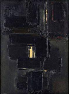 PEINTURE 81 X 60 CM, 28 NOVEMBRE 1955 By Pierre Soulages