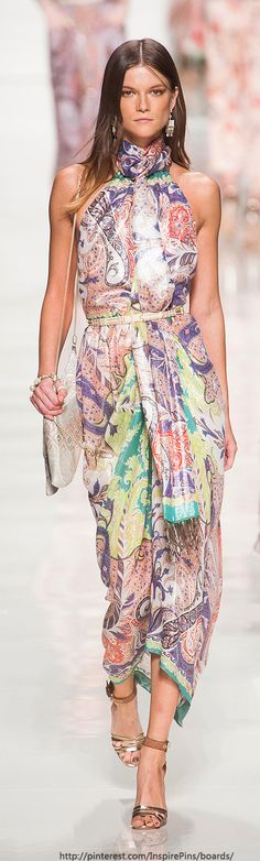 This is actually ready to wear from run way to real world say at a restaurant and that's rare. -Mitzi Milan Spring 2014 - Etro