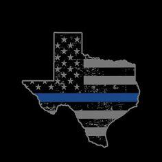 Texas Police & Law Enforcement Thin Blue Line