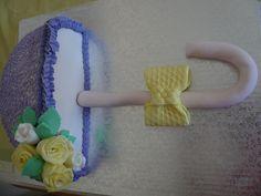tarta sombrilla, con pasta de miel y glase real
