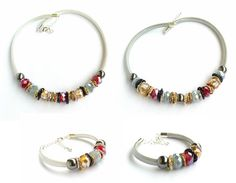 Beaded necklace silver necklace christmas by MarilenaHarmonies
