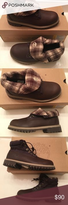Timberlands Kids Roll Top Boots A style unlike any other. The Timberland Roll Top Boot rolls down for a little built-in air conditioning and a whole lotta style.. Features & details Leather/Fabric Made in USA or Imported Rubber sole Timberland Shoes Boots
