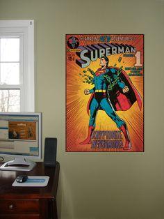 DC Comics Superman Kryptonite Comic Cover Wall Mural