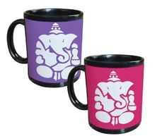 Tiedribbons - Lord Ganesh Gifts For Diwali Set Of 2 Black Coffee Mug