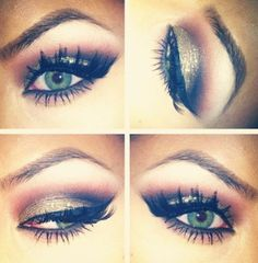 eye make up. I really want to learn to do eye make-up better. Eye Makeup, Kiss Makeup, Beauty Makeup, Hair Makeup, Hair Beauty, Makeup Contouring, Beauty Skin, Prom Makeup, Wedding Makeup