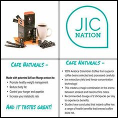 New JIC Cafe Naturals weight loss coffee!