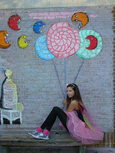 Art of Apex High School: Interactive Street Art Chalk Murals