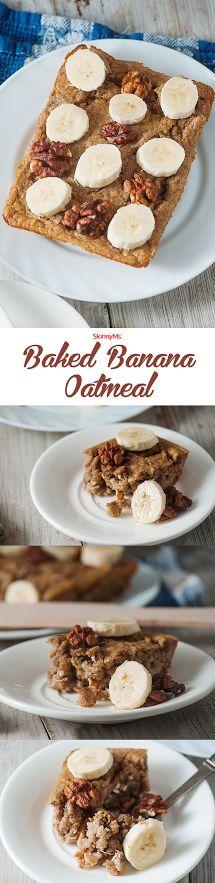 Baked Banana Oatmeal! Yummy!