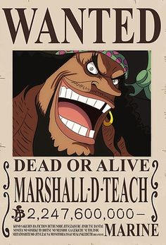 Poster A3 One Piece Shirohige Edward Newgate Recompensa Se Busca Wanted Bounty