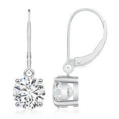 solitaire diamond drop earrings - Google Search