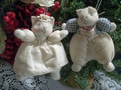 Vintage Christmas Tree Ornaments Fabric by SpringJewelryThings, $16.95