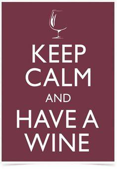 Poster Frases Keep Calm Wine - Comprar em Decor10