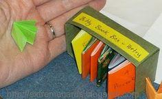 Teeny tiny folded books #books #tiny #mini #little #paper #crafts #papercrafts #fun #folded #origami #todo #tomake