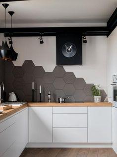 Kitchen Room Design, Modern Kitchen Design, Home Decor Kitchen, Interior Design Kitchen, Home Kitchens, Adams Homes, Modern Bathroom Tile, Small Apartment Kitchen, Pantry Design