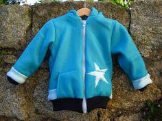 Fleece colour-block hoodie