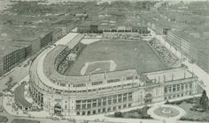 Architectural rendering for Comiskey, created shortly before its opening in 1910.