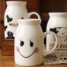 400 ml Moda Olla De Cerámica Blanca Leche Desayuno Taza de Consumición Eco Friendly Menaje SH147(China (Mainland))