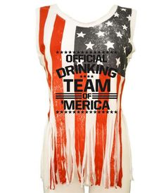 Official drinking team of America Women's Shredded Us Flag July 4th Tanktop shirt Tank Top Party gift celebration USA America patriot independence day #american #shredded #flag #july4th #tanktop