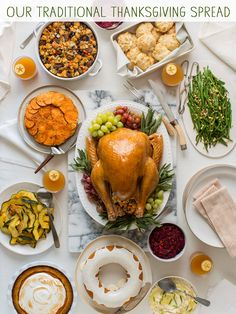Are you ready for Thanksgiving? / Spoon Fork Bacon #recipe Traditional Thanksgiving Dinner, Thanksgiving Dinner Recipes, Thanksgiving Traditions, Thanksgiving Side Dishes, Holiday Recipes, Hosting Thanksgiving, Thanksgiving Holiday, Holiday Foods, Christmas