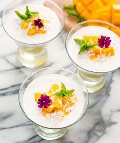 2 Ingredient Mango Coconut Pudding (Dairy Free)