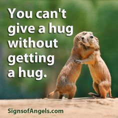 BE AN ANGEL - Give lots of hugs today!