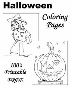 Halloween Coloring Pages!