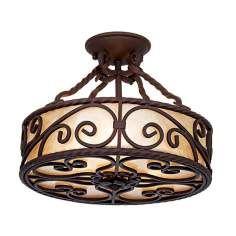 iron light fixtures | Semi Flush Mount, 100W - 190W Close To Ceiling Lights By LampsPlus.com