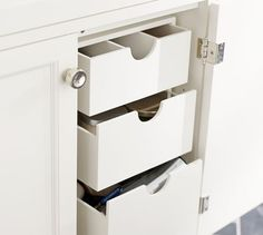 Bathroom Under Sink Storage Drawers | Pottery Barn - Perfect for makeup, toothpaste, hairbrushes etc