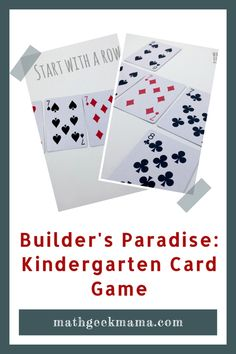 This fun and easy Kindergarten card game is a low-prep way to practice important math skills. Work on sorting, sequencing and counting. All you need is a deck of cards!  #mathcardgames #kindergartenmath #mathactivities