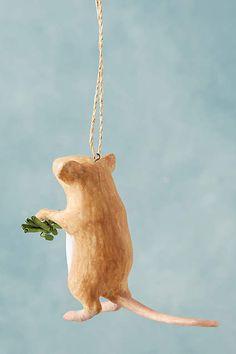 Mistletoe Mouse Ornament - anthropologie.com