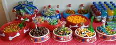 Paw Patrol candy buffet
