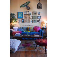 Decorating - Apartments Condos & Small Houses / boho chic living room, found on polyvore.com