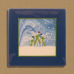 Three Reindeer by LassenGlassWorks on Etsy, $55.00