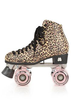 Topshop Moxi Leopard Roller Skates