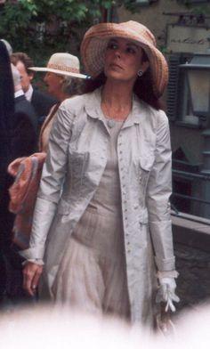 Prinzessin Caroline bei der Hochzeit von Prinz Heinrich Donatus von Hesse und Floria-Franziska von Faber-Castell in Kronberg, am 17. Mai 2003 in Deutschland