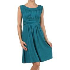 Teal Jersey Dress - dress for pear bodyshape
