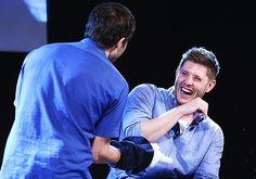 Jensen's beautiful laugh!:)