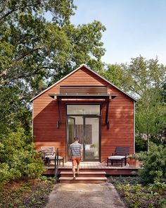 Lake Flato Porch House Module, Wemberley, TX; photo by Casey Dunn