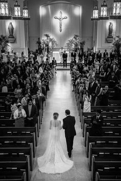 Religious Wedding Ceremony in Church | Photography: Photography by Edmonson Weddings. Read More: http://www.insideweddings.com/weddings/catholic-hindu-ceremonies-reception-with-enchanted-forest-theme/833/