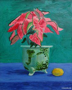Painting by David Hockney David Hockney Artist, David Hockney Paintings, Art Painting Gallery, Painting & Drawing, Encaustic Painting, Plant Painting, Gravure Illustration, Illustration Art, Henri Matisse
