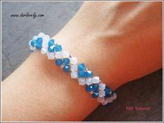 Blue Flower White Opal Bracelet (BB164)