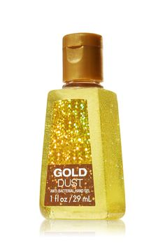 Gold Dust PocketBac Sanitizing Hand Gel - Anti-Bacterial - Bath & Body Works-- Has glitter in the gel too.... YES please!
