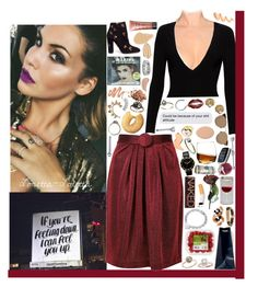 """When you're with him do you call my name, like you did with me? Does it feel the same. ❤"" by loretta-mccoy ❤ liked on Polyvore featuring Alice + Olivia, Boutique Moschino, Aquazzura, Stila, Armani Beauty, NARS Cosmetics, Juicy Couture, Allurez, Linda Farrow and Wet Seal"